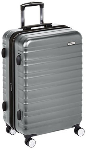 Amazonbasics Premium Hardside Spinner Luggage With Built-In Tsa Lock - 24-Inch, Grey