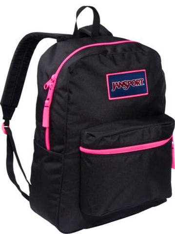 JanSport Women's Overexposed Black/Fluorescent Pink One Size