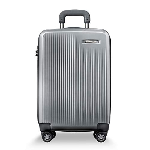 Briggs & Riley Sympatico Domestic Carry-On Expandable Spinner (Silver)