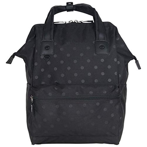 "Heritage Travelware Women's Polka Dot Polyester 15"" Laptop Backpack, Black One Size"