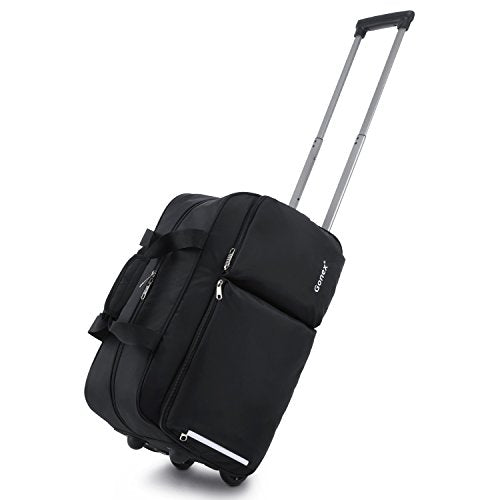 Rolling Duffel Bag, Water Repellent Wheeled Duffel Carry On Luggage 20inch Black