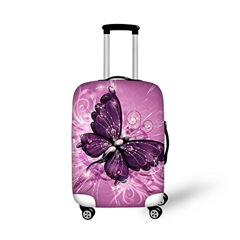 Bigcardesigns Pink Luggage Covers Apply to 26-30 Inch Travel Suitcase L