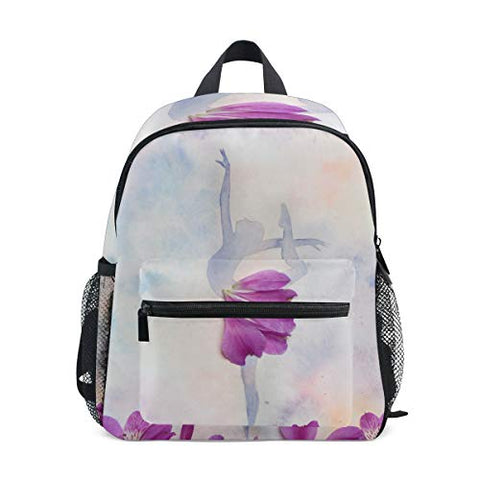 GIOVANIOR Watercolor Illustration Silhouette Of Ballet Dan Lightweight Travel School Backpack for