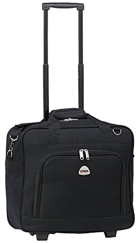 "Hipack 16"" Rolling Trolley Shoulder Carryon Bag (Black)"