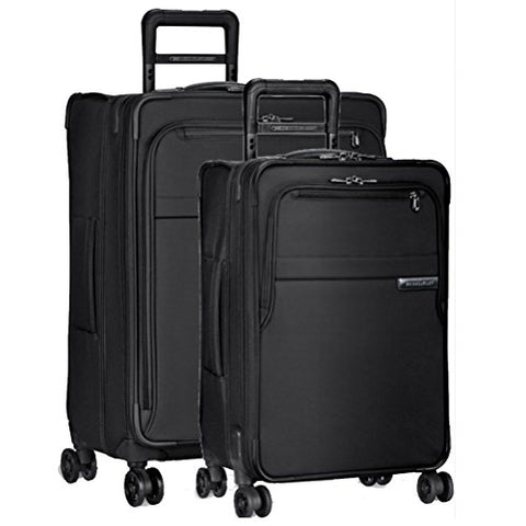Briggs & Riley Baseline 2 Piece Set | Medium Spinner | Domestic Carry On Spinner (Black)