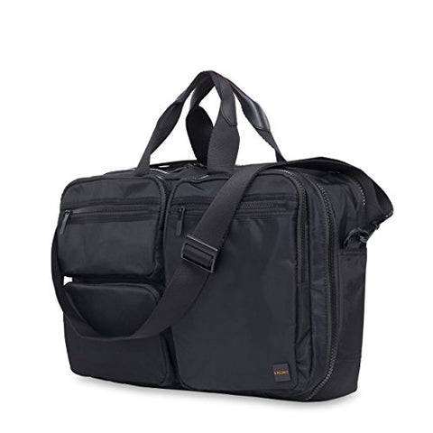 Knomo Luggage Men's Wilton Briefcase, Black, One Size