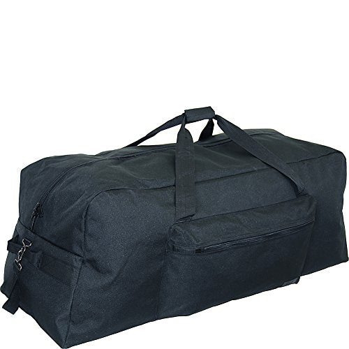"Netpack 42"" 1200 D Interlace Poly Large Base Duffel (Black)"