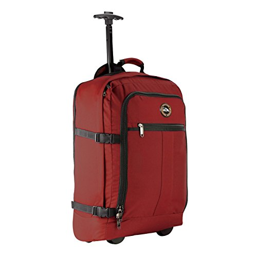 Cabin Max Lyon Carry On Bag with Wheels - 22x14x9 Very Lightweight at Just 3.7lbs 44L - Carry On