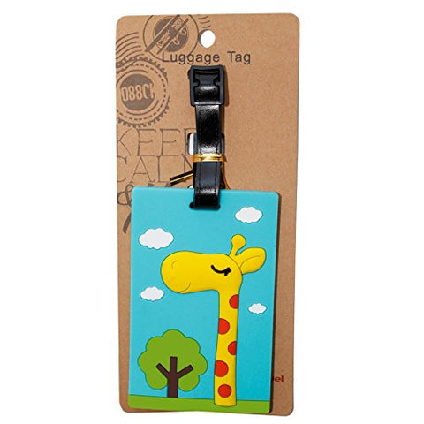DIYJewelryDepot 1 Pc. Outdoor Giraffe Luggage Name ID Large Backpack Travel Bag Tag