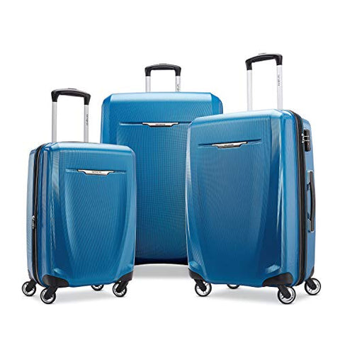 Samsonite Winfield 3 Dlx Hardside Checked Luggage With Double Spinner Wheels, 3-Piece (20/24/28),