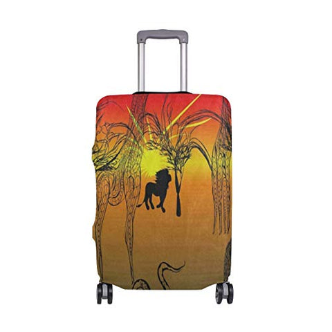 Suitcase Cover Africa Lion Giraffe Snake Luggage Cover Travel Case Bag Protector for Kid Girls