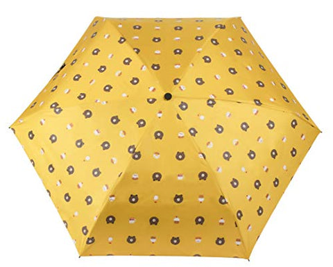 Mini Umbrella - Sun and Rain Travel Umbrella, Light Compact Design, 95% UV Protection, Cute Cartoon