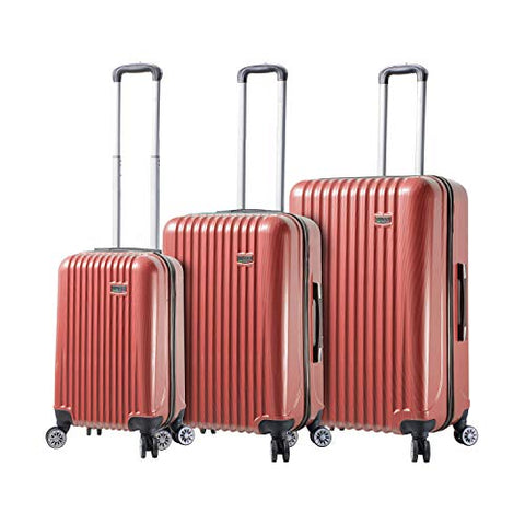 Mia Toro Mia Viaggi Italy Lucca Hardside Spinner 3pc Set, Red