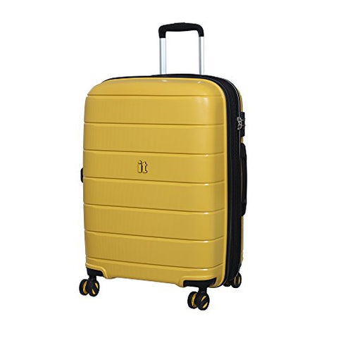 "It Luggage 25.8"" Asteroid 8-Wheel Hardside Expandable Spinner, Cheese Yellow"