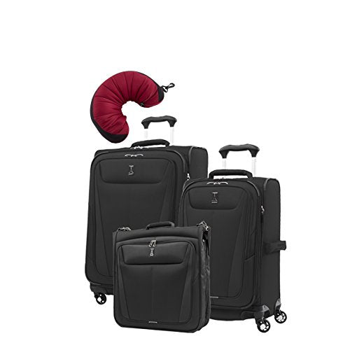 "Travelpro Maxlite 5 | 4-Pc Set | Bifold Hanging Garment, 21"" Carry-On & 25"" Exp. Spinners With"