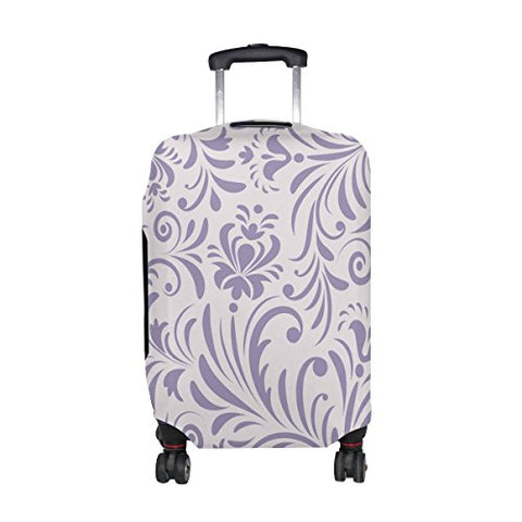 GIOVANIOR Retro Roman Purple Floral Luggage Cover Suitcase Protector Carry On Covers