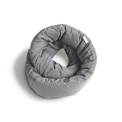Huzi Infinity Pillow - Design Power Nap Pillow, Travel and Neck Pillow (Grey)