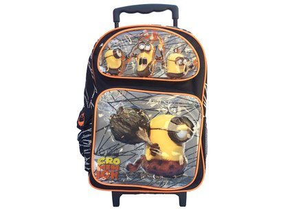 New 2015 Despicable Me Crominion Large Roller Backpack
