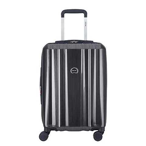 "Delsey Luggage Devan 21"" Carry-On, Hard Case Expandable Luggage (Silver)"
