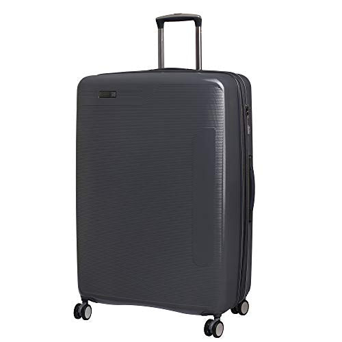 "IT Luggage 31.1"" Signature 8-Wheel Hardside Expandable Spinner, Charcoal Gray"