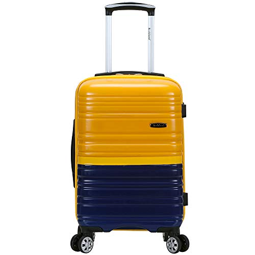 "Rockland Melbourne 20"" Expandable Polycarbonate Carry On, 2Tonenavy"