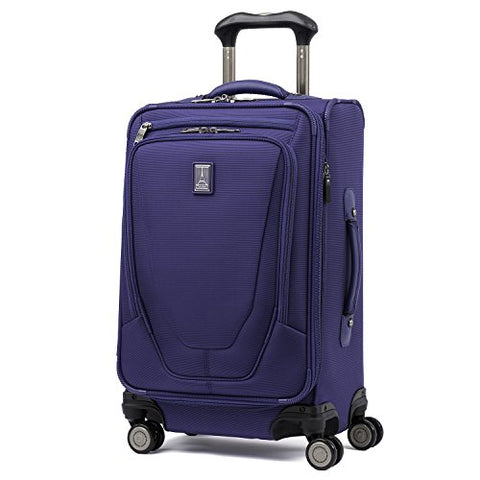 "Travelpro Luggage Crew 11 21"" Carry-On Expandable Spinner W/Suiter And Usb Port, Indigo"