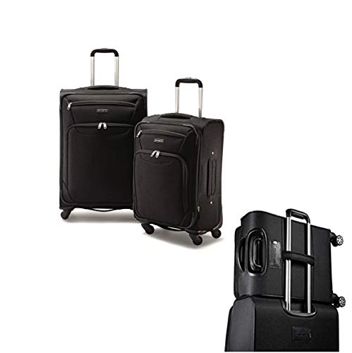 Samsonite StackIt 2 Piece Softside Spinner Carry On Luggage Set Black 20 Inch