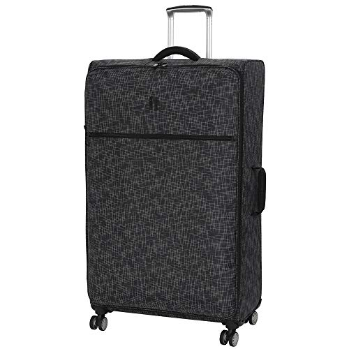 "it luggage 34.4"" Stitched Squares Lightweight Case, Black"