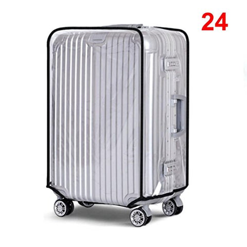 Creazy Pvc Transparent Travel Luggage Protector Suitcase Cover 20''22''24''28''30'' (24'')