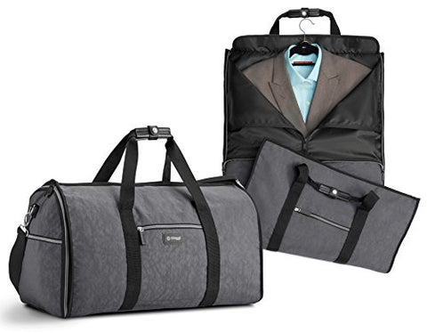 Biaggi Luggage Hangeroo Two-In-One Garment Bag + Duffle, Grey
