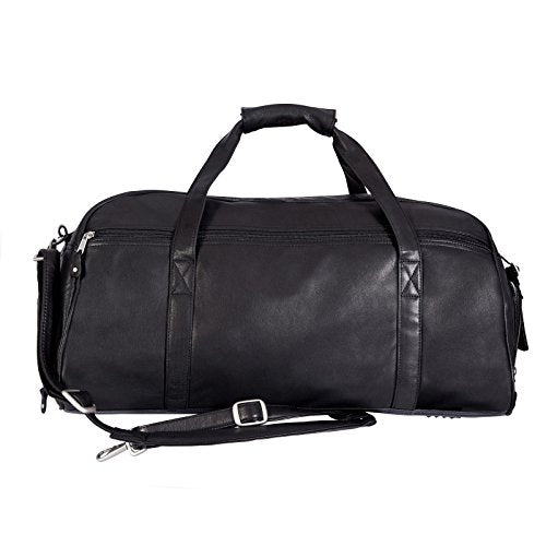 Canyon Outback Marble Canyon 23-Inch Leather Sport Duffel, Black, One Size