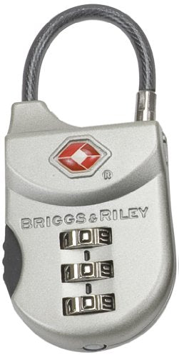 Briggs & Riley Travel Basics Tsa Cable Lock, Satin Nickel, One Size