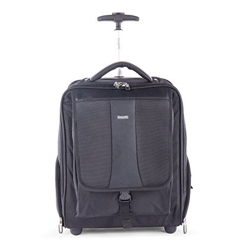 Bugatti Gregory Backpack On Wheels, Ballistic Nylon, Black