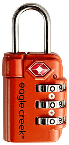Eagle Creek Travel Safe TSA Lock, Flame Orange