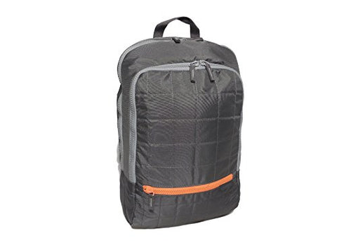 "Samsonite QUILTED Backpack, 15.6"" Laptop - Grey/Orange ( 13""x 18"" x 5"" )"