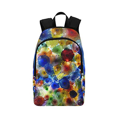 Xingchenss Vegas Bellagio Glass Art Casual Daypack Travel Bag College School Backpack Mens Women
