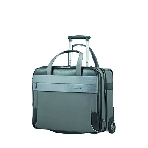 "SAMSONITE ROLLING TOTE 17.3"" EXP (GREY/BLACK) -SPECTROLITE 2.0 Travel Tote, 0 cm, Grey"