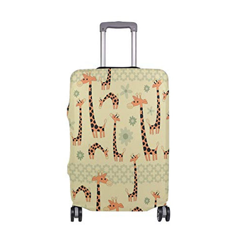 GIOVANIOR Cartoon Giraffes Luggage Cover Suitcase Protector Carry On Covers