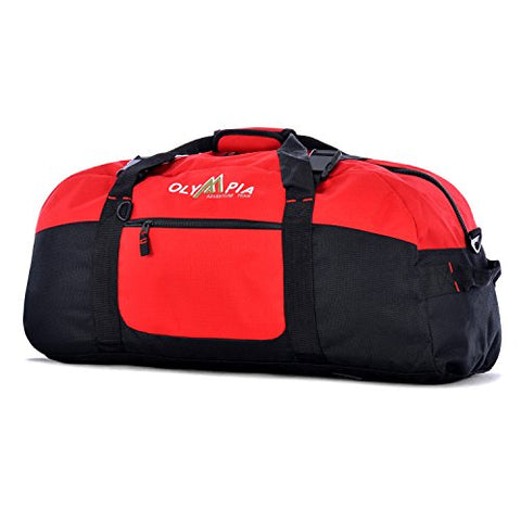 Olympia Luggage 30 Inch Sports Duffel Bag, Red, One Size