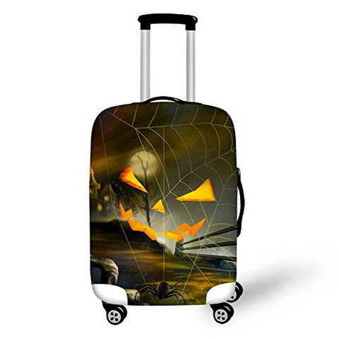 Halloween Grimace Pumpkin Printing Travel Luggage Covers Suitcase Protector