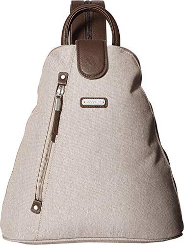 Baggallini Women's Metro Backpack with RFID Phone Wristlet Sand One Size