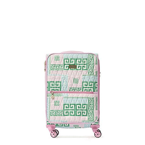 MacBeth Women's Prepset 21in Rolling Luggage Suitcase Pink, Green