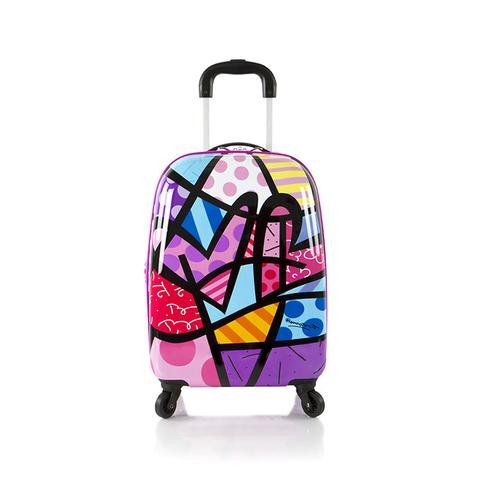 Heys America Unisex Britto Tween Spinner Purple Hearts Luggage