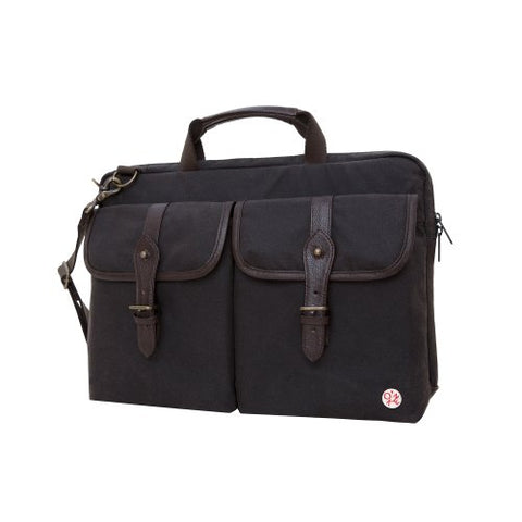 Token Bags Waxed Knickerbocker Laptop Bag 15 Inch, Dark Brown/Dark Brown, One Size