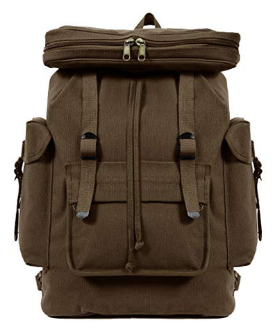 Rothco Canvas European Style Rucksack (Earth Brown)