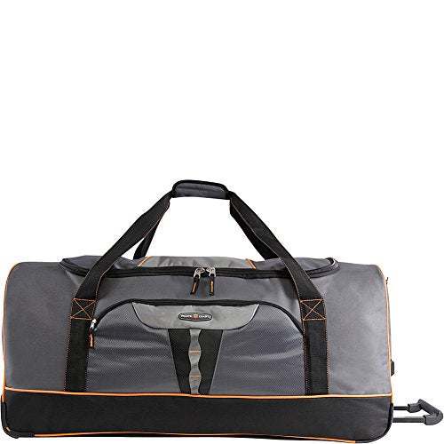 "Pacific Coast 35"" Extra Large Bag Rolling Duffel, Grey, One Size"