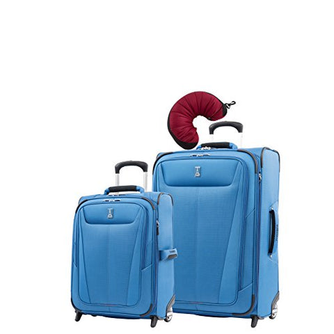 "Travelpro Maxlite 5 | 3-Pc Set | Int'L Carry-On & 26"" Exp. Rollaboard With Travel Pillow (Azure"