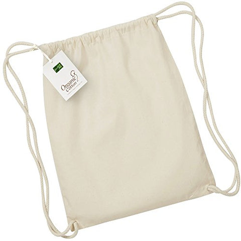 Westford Mill Earthaware Organic Gymsac - Black Or Natural - Natural