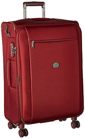 Delsey Luggage Montmartre+ 25 Inch Expandable Softside Spinner Suitcase, Bordeaux