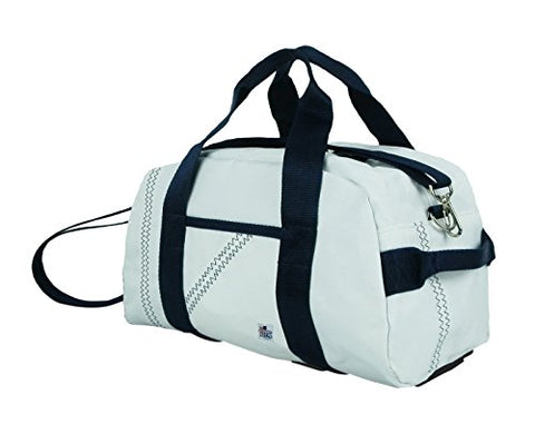Sailor Bags Mini Duffle with Blue Straps, One Size, White/Blue
